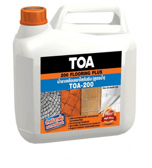 TOA ทีโอเอ 200 น้ำยาเคลือบเงาใสกันซึม สูตรน้ำ 1 ลิตร #FPLUS TOA 200