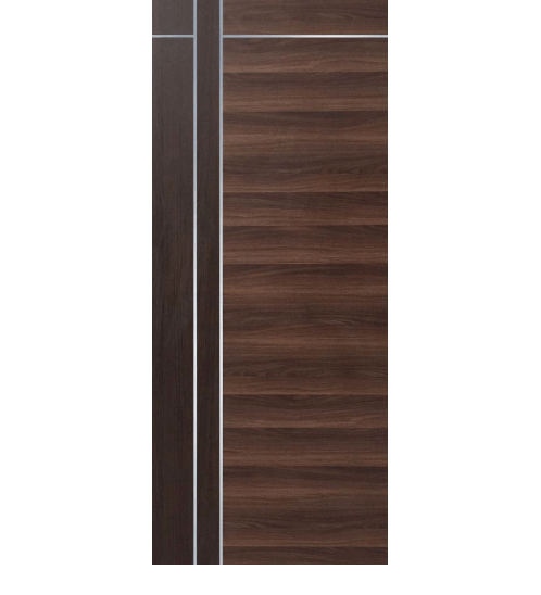 ECO DOOR ประตูเอชพีแอล ขนาด 90x200ซม. สีโอ๊ค (ไม่เจาะ)  3I โอ๊ค