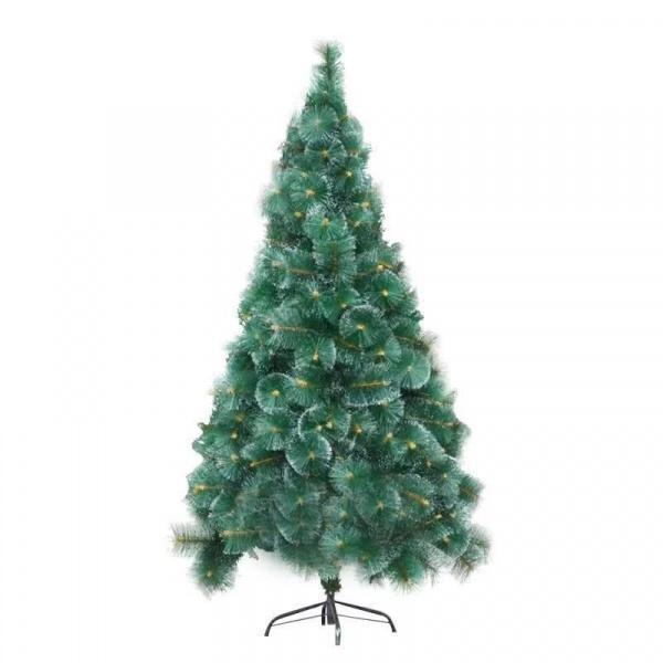 Global house ต้นคริสต์มาสตกแต่ง ขนาด 180 ซม. CT-018 สีเขียว-ขาว