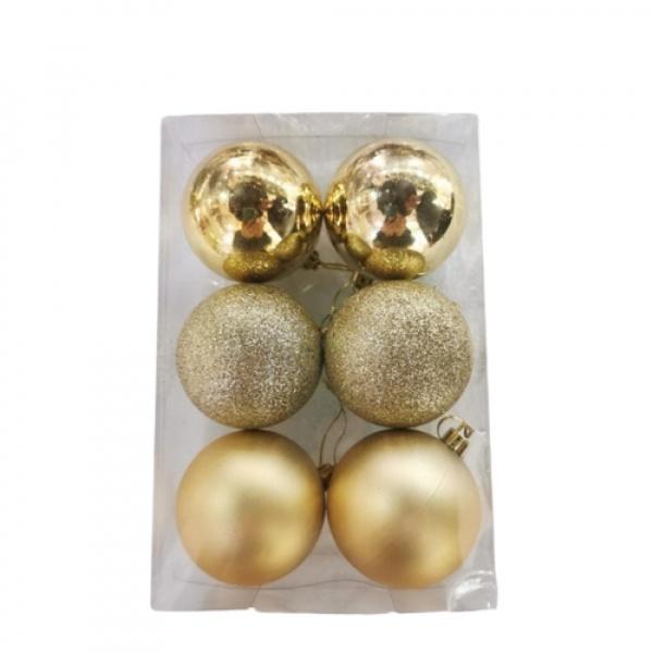 COZY ลูกบอลประดับต้นคริสต์มาส 6ชิ้น/แพ็ค ขนาด 6x6x7ซม.   Z1