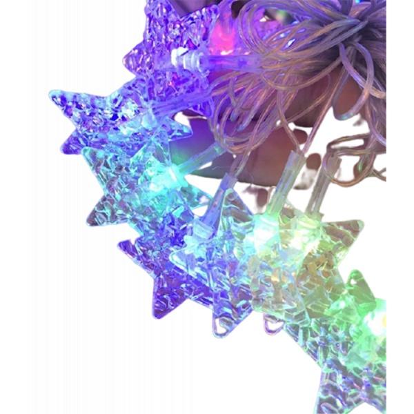 EILON ไฟเทศกาลรูปดาว 3m สีรุ้ง