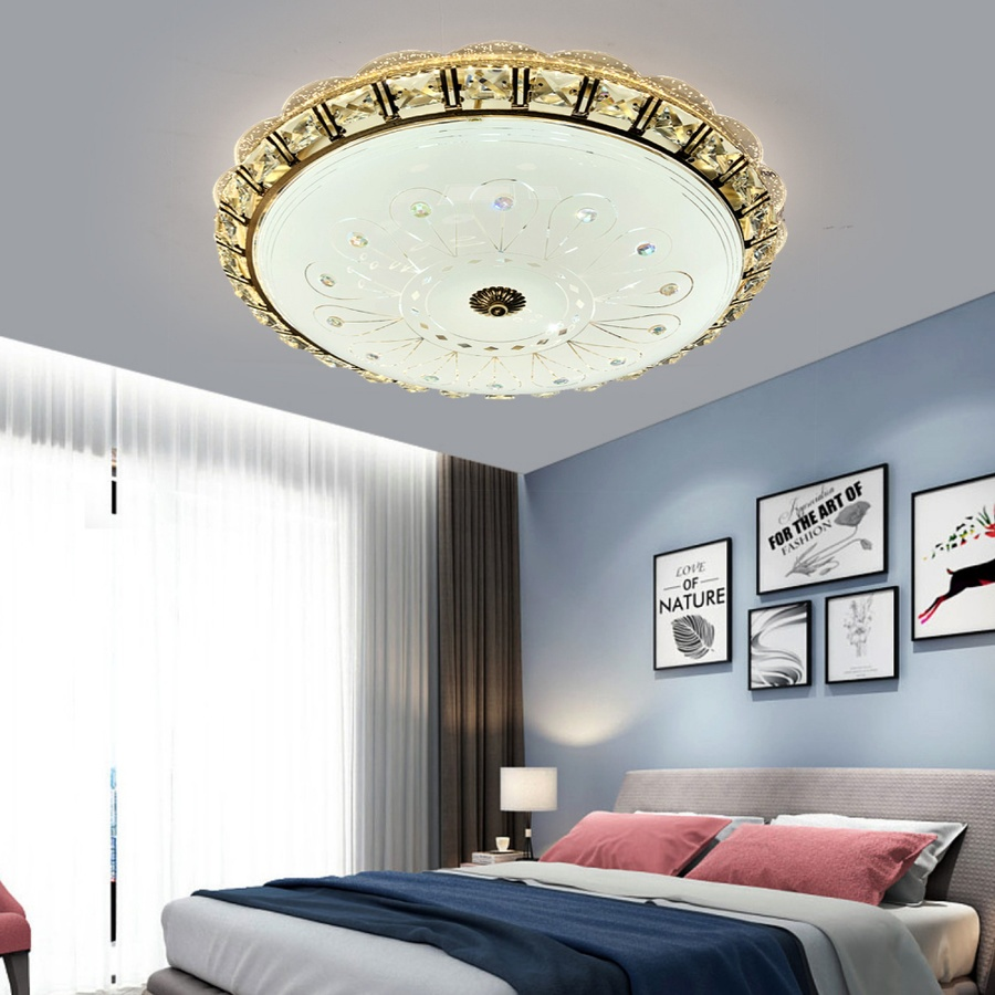 EILON โคมไฟเพดานอะคริลิค GJXD400XFJ04-2*24W คูลไวท์