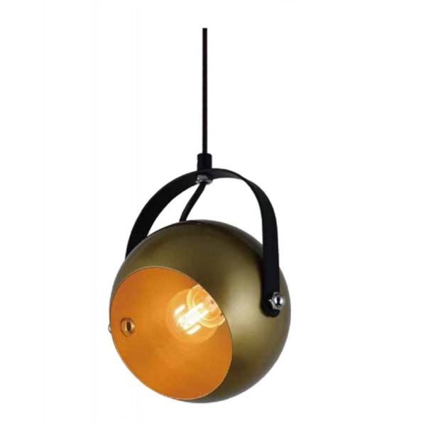 EILON โคมไฟแขวนเพดานวินเทจ 40 W ขั้ว E27 HFD0365B-1 สีดำ ทอง สีดำ