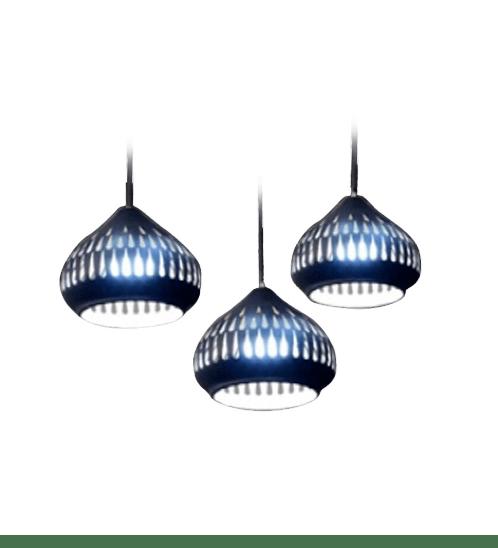 EILON โคมไฟแขวนโมเดิร์น  ZS-036 3หัว สีดำ