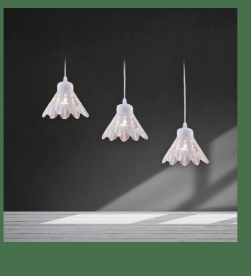 EILON  โคมไฟแขวนโมเดิร์น  ZS-037-3หัว  สีขาว