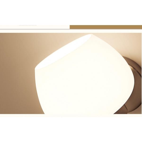 EILON โคมไฟติดผนังโมเดิร์น E27 5W 3000K W5446 แสงวอร์มไวท์  ขาว
