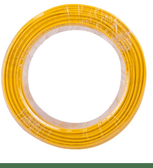 BCC สายไฟทองแดง IEC 01 2.5 (50ม)  THW สีเหลือง