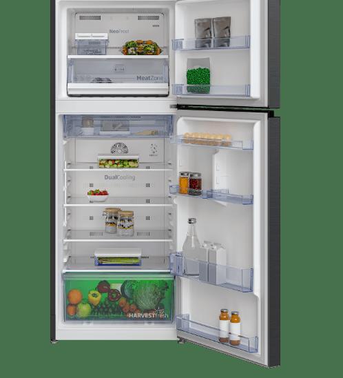 BEKO  ตู้เย็น 2 ประตู 13.3 คิว  RDNT401E50VK สีเทาเข้ม