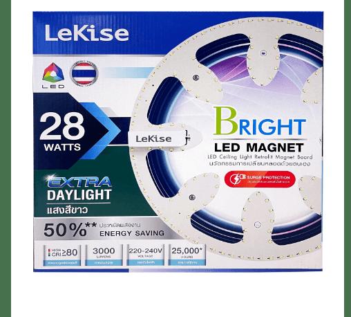 LEKISE ชุดเปลี่ยนหลอดโคมไฟเพดาน LED MAGNET 28 วัตต์ แสงขาว  BRIGHT สีขาว