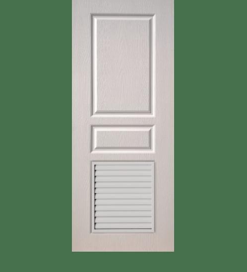 BWOOD ประตูยูพีวีซี Eco series BELR002 REVO ขนาด 90x200ซม. (เจาะรูลูกบิด) ไม้ธรรมชาติ