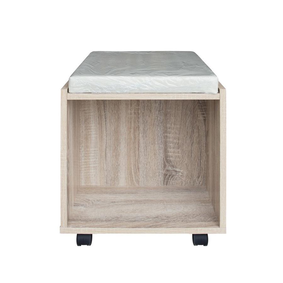 Delicato โต๊ะแป้ง+สตูล ขนาด80CM. Bogie1 สีน้ำตาลอ่อน