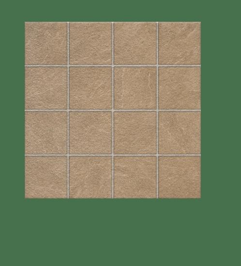 Bellecera 16x16 กระเบื้องปูพื้น FT400X400 ศิลาวายุ  (6P) A สีน้ำตาล