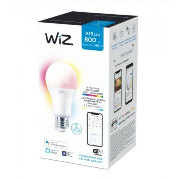 PHILIPS WiZ หลอดไฟแอลอีดี Wi-Fi Color+TunableWhite 9W A60 12/1CT