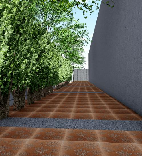 CONTEXTURE หินล้างแกะลาย โลตัส 002  ขนาด30x30x3.2ซม.  สีส้ม