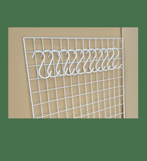Delicato ตะขอแขวนสินค้า ตัวS 5x10ซม. (12ชิ้น/แพ็ค) H3W สีขาว