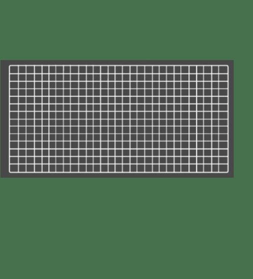 Delicato  ตะแกรงชุบ   ขนาด 60x100x1ซม. สีขาว