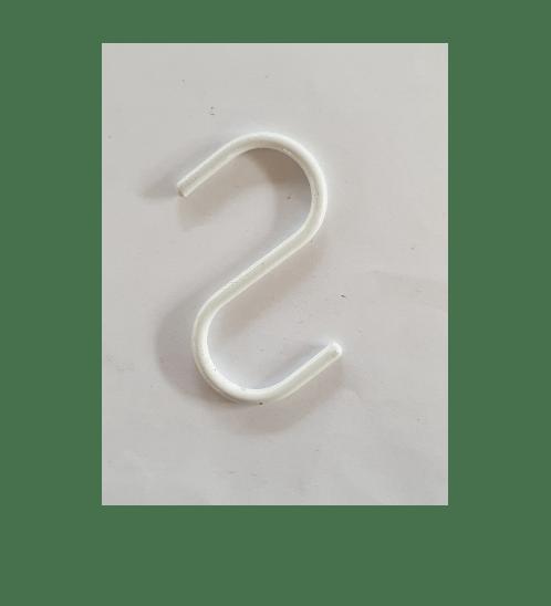 Delicato  ตะขอแขวนสินค้า ตัวS 5x7ซม. (12ชิ้น/แพ็ค) H2W สีขาว