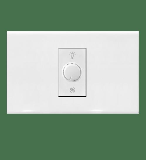 Gentec ชุดสวิตซ์หรี่ไฟ 120W-21 สีขาว
