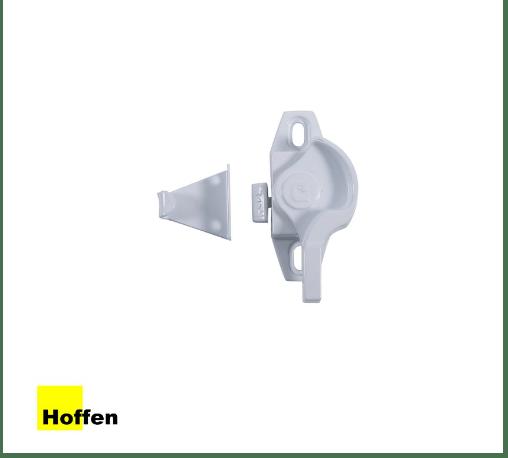 HOFFEN ประตูไวนิล บานเลื่อน SS D2 ขนาด 160x205ซม. PRO พร้อมมุ้ง ขาว