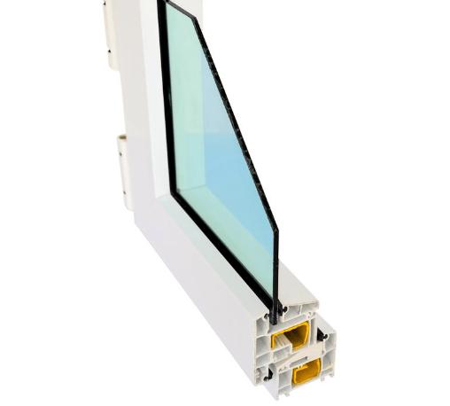 HOFFEN หน้าต่างไวนิล บานเลื่อน SS W1 ขนาด 180x110ซม. พร้อมมุ้ง  ขาว