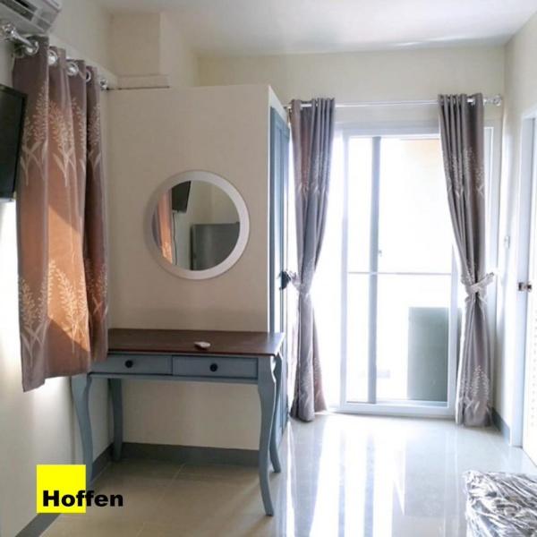 Hoffen ประตูบานเลื่อนไวนิล  200cm.x205cm. พร้อมมุ้ง  SS D1 สีขาว