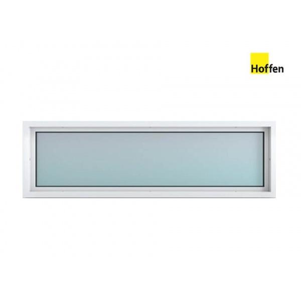 Hoffen หน้าต่างไวนิลช่องแสง UPVC ขนาด 150 X 40 cm. - สีขาว