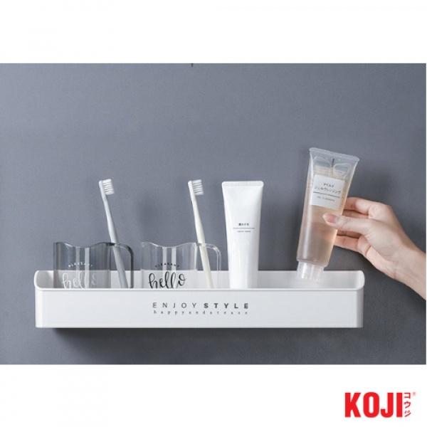 KOJI ถาดวางของติดผนัง ขนาด 10.5x40.5x7 cm. 2JYS040-WH สีขาว
