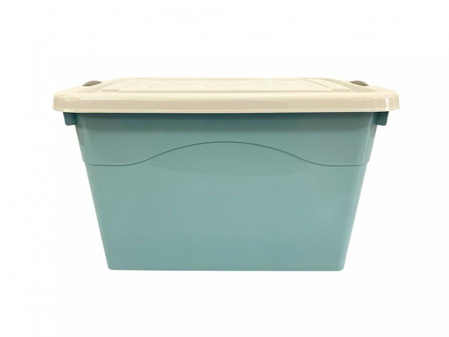 GOME กล่องพลาสติกมีล้อ 80 ลิตร ขนาด 41.5x56.5x32.5ซม.  2BEZ046-BL สีฟ้า