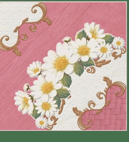 Sosuco 12X12 มงกุฏดอกไม้-ชมพู (11P) A. สีชมพู