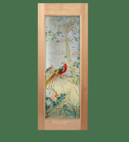 MAZTERDOOR ประตูกระจกสยาแดง  ขนาด 80x200 cm. Master-019