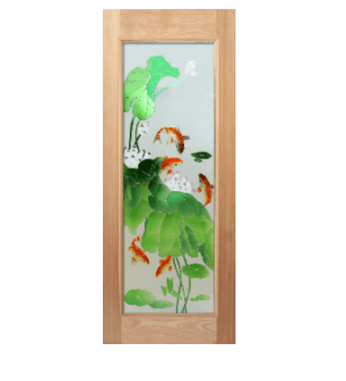 Masterdoors ประตูไม้สยาแดง  ขนาด 80x200 cm. ART-01