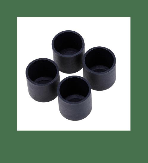S.S.P. ยางขาโต๊ะกลม สวมนอก (4 ชิ้น/แพ็ค) 3/4 นิ้ว สีดำ
