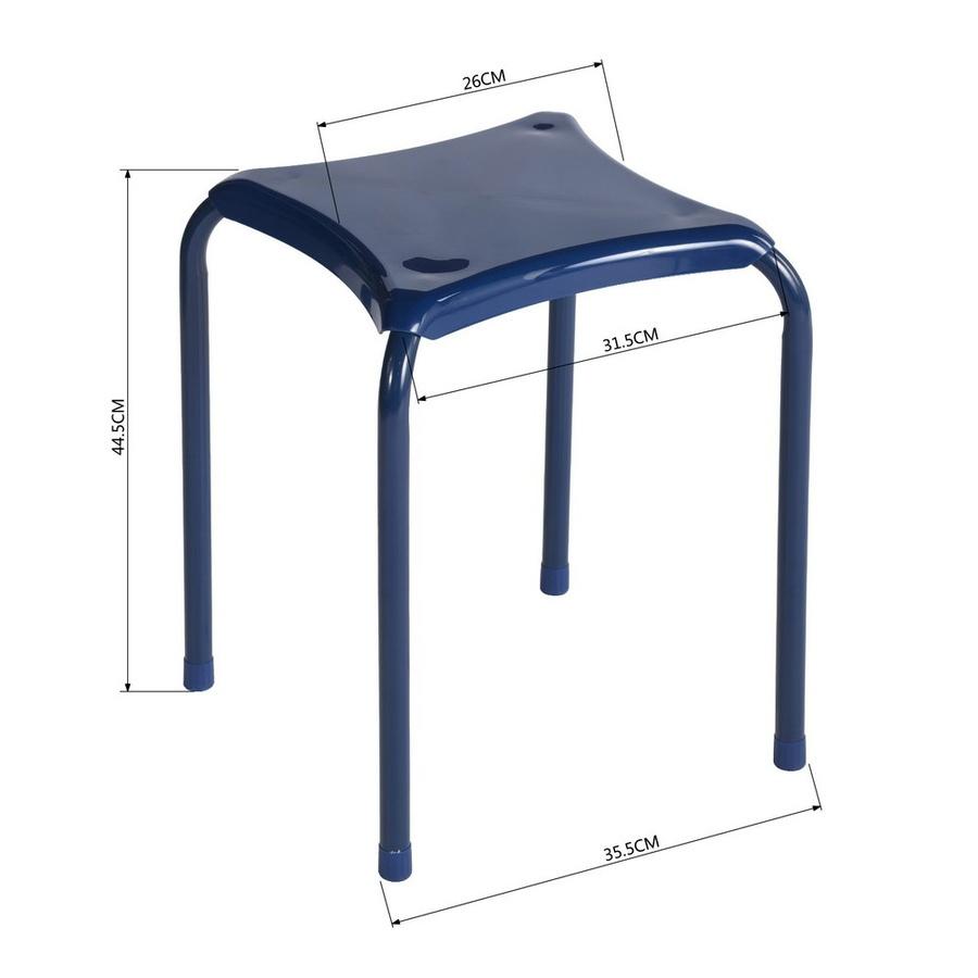 Delicato เก้าอี้เหล็ก  FREY DARK BLUE  ขนาด 34x34x46 ซม.  สีน้ำเงิน