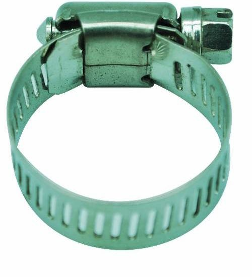 VAVO กิ๊ปรัดสายยางกว้าง ขนาด 7/8นิ้ว - สีเงิน