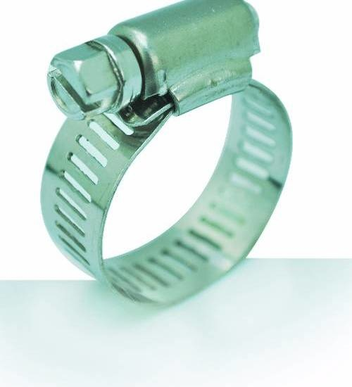 VAVO กิ๊ปรัดสายยางกว้าง ขนาด 1-1/16นิ้ว - สีเงิน