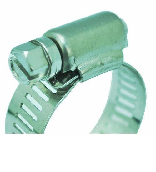 VAVO กิ๊ปรัดสายยางกว้าง ขนาด 1-1/4นิ้ว - สีเงิน