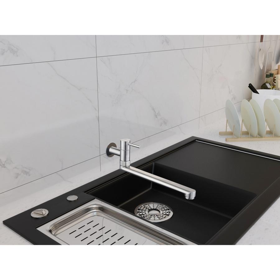 VERNO ก๊อกอ่างล้างจานสแตนเลส304 แบบติดผนัง นอร์วิส 501-2D