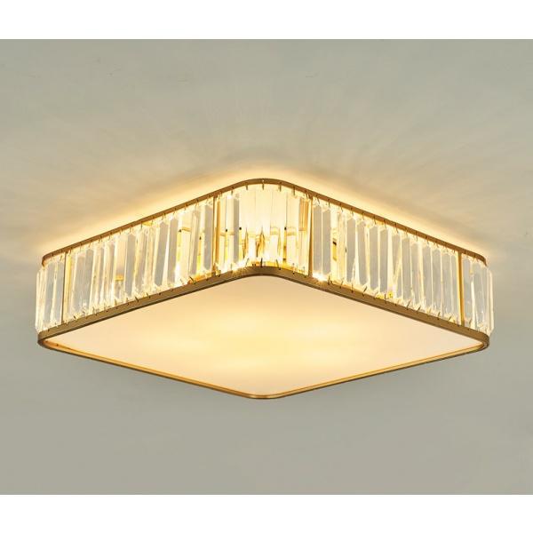 EILON โคมไฟเพดานคริสตัล 40W ปรับได้ 3 แสง KDX2033/500 สีทอง
