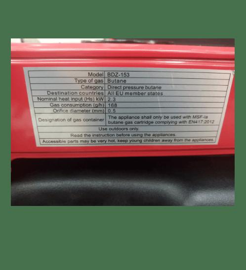 CLOSE ชุดเซ็ทเตาแก๊สพกพาพร้อมกระป๋องแก๊ส BDZ-153 RED / GCCL-B001