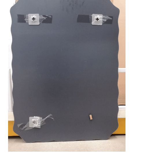 NICE กระจกเงาทรงเหลี่ยม ขนาด 80x60ซม.   PQS-XS6080F