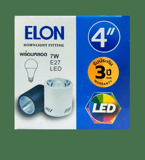 EILON ดาวน์ไลท์แอลอีดีทาวเวอร์พร้อมหลอด 4  นิ้ว Y4001-E27  สีขาว
