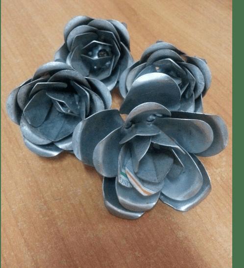 LUKLOK ลายประกอบเหล็กดัด - ดอกกุหลาบเล็ก C-009 สีโครเมี่ยม