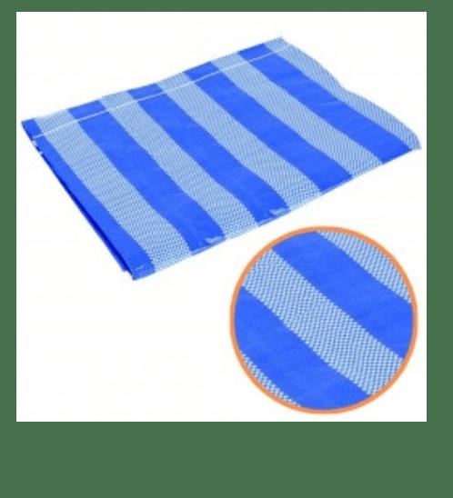 POLLO ผ้าพลาสติกสาน 4m*5m สีฟ้า-ขาว SP0159