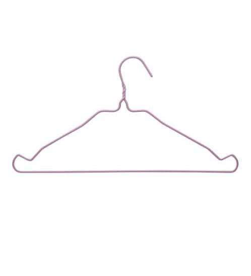 SAKU ไม้เเขวนเสื้อพลาสติก แพ็ค 10 ชิ้น JMZM019-PK สีชมพู