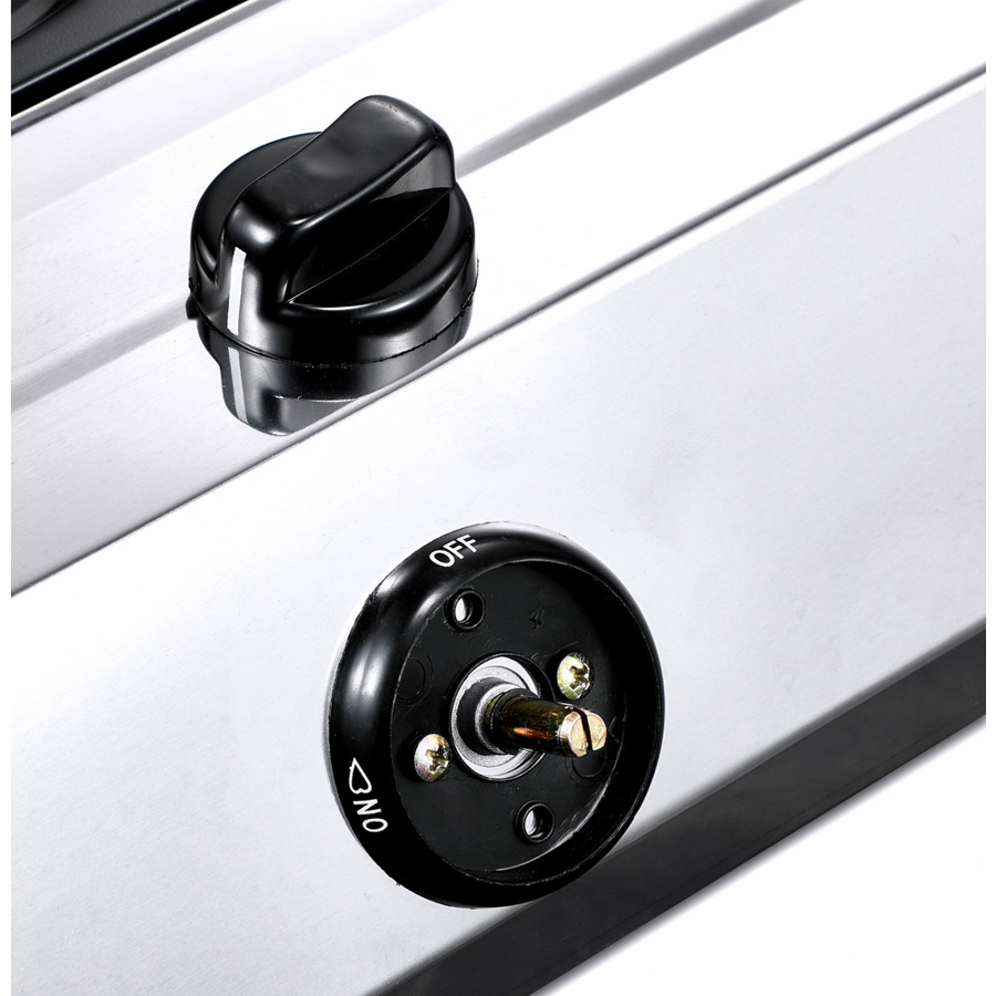 CLOSE เตาแก๊สแบบตั้งพื้นหน้าสแตนเลส 3หัวเตา Darnell CG-02 สีขาว