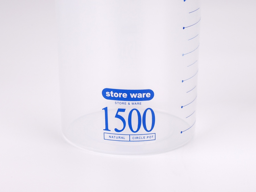GOME กระปุกพลาสติก 1500ml.  Genki คละสี