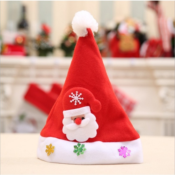 COZY  หมวกซาตาคอส สำหรับเด็กเล็ก ขนาด 35x25 ซม.  6LNA001 สีแดง