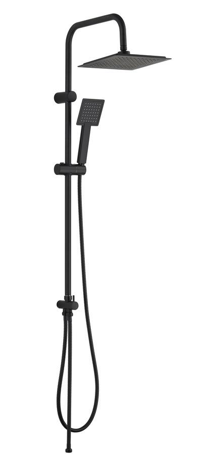 VERNO ชุดฝักบัวเรนชาวเวอร์สเตนเลสหัวเหลี่ยม  เบอร์ลิน LD-0622 สีดำ