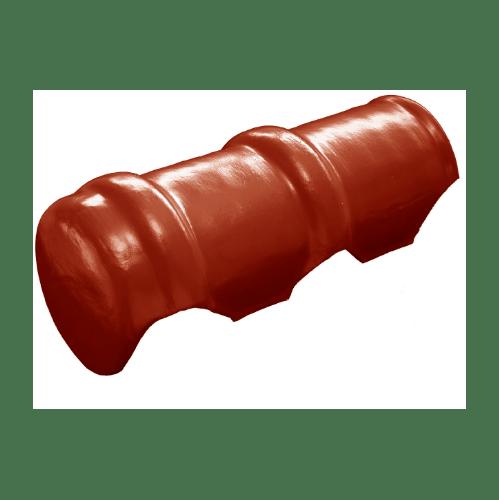 โอฬาร ครอบสันปิดจั่ว(ยาว) สีประกายทองแดง (ลูกโลก) ลอนคู่