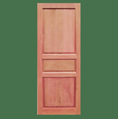 BEST ประตูไม้สยาแดงบานทึบลูกฟัก 70x180 ซม. GS-40